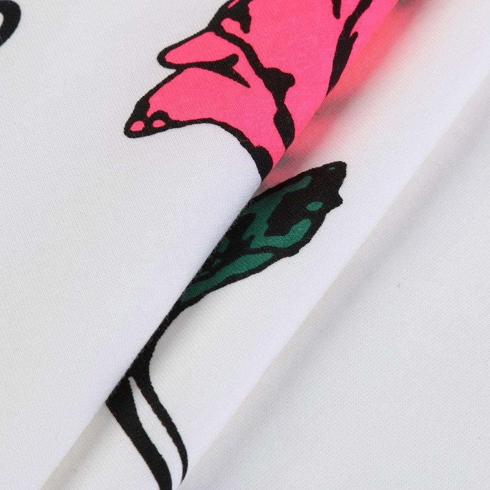 Weant Damen Sommer T-Shirt M/ädchen Teenager Mode Kurzarm O-AusschnittFrauen Bester Freund Buchstaben Rose Gedruckt Shirts Lose Casual Crop Tunika Oberteile Shirt Bluse Tops