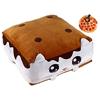TOP TRENZ Smore Squishy Cloud Scented Pillow & Plush Pizza Clip , Multi-Pack: Toys & Games