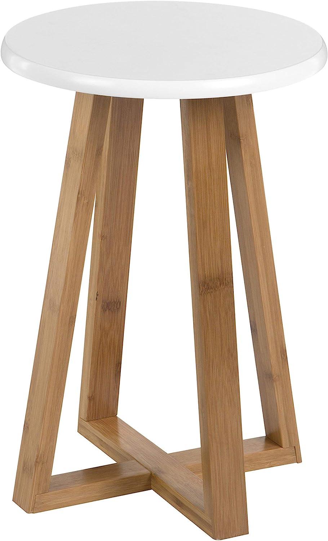 Premier Viborg Tabouret Rond Bambou 30 X 30 X 43 cm 30x30x43 cm Bleu