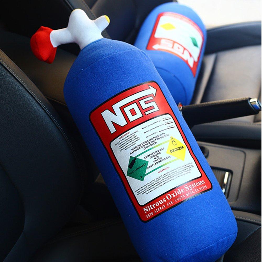 decoraci/ón de reposacabezas TUTU-C Coj/ín de coj/ín para coche funda para asiento de asiento de Hellaflush para NOS Nitrous Oxide botella almohada de peluche juguete