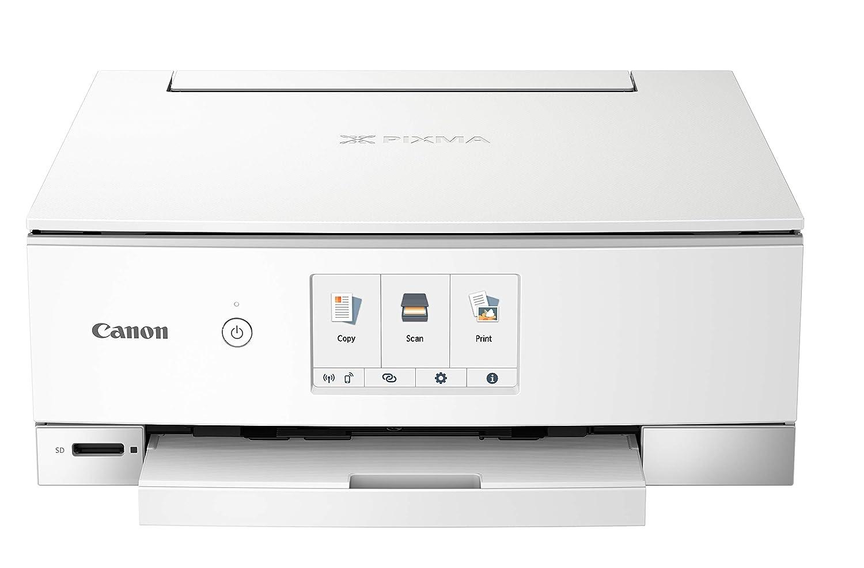 Canon PIXMA TS8320 Inkjet Wireless Color Printer All In One, Copier, Scanner, White