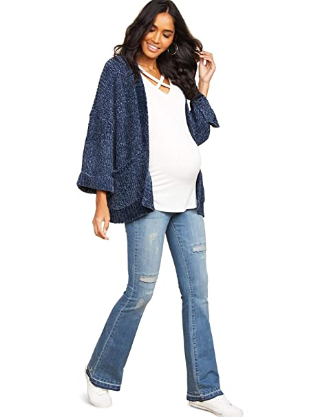 3792e1a7f28 Jessica Simpson Secret Fit Belly Wide Leg Maternity Jeans at Amazon Women s  Clothing store