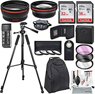 58MM HD 2.2X Telephoto & 0.43X Wide Angle + Xpix Basic Photo Accessories & Travel Bag for Canon Rebel (T6s T6i T6 T5i T4i T3i T3 T2i T1i XT XTi XSi), EOS (700D 650D 600D 1100D 550D 500D 100D)