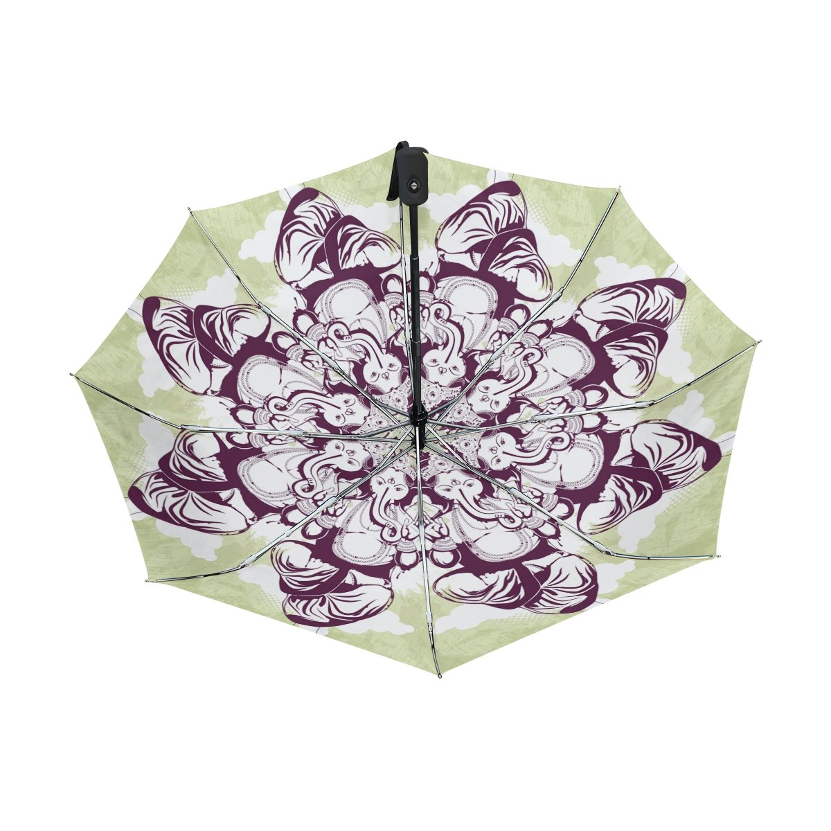 a2f48b10fe8c Amazon.com : Aideess Outer Black Umbrella Indian Ethnic Yoga ...