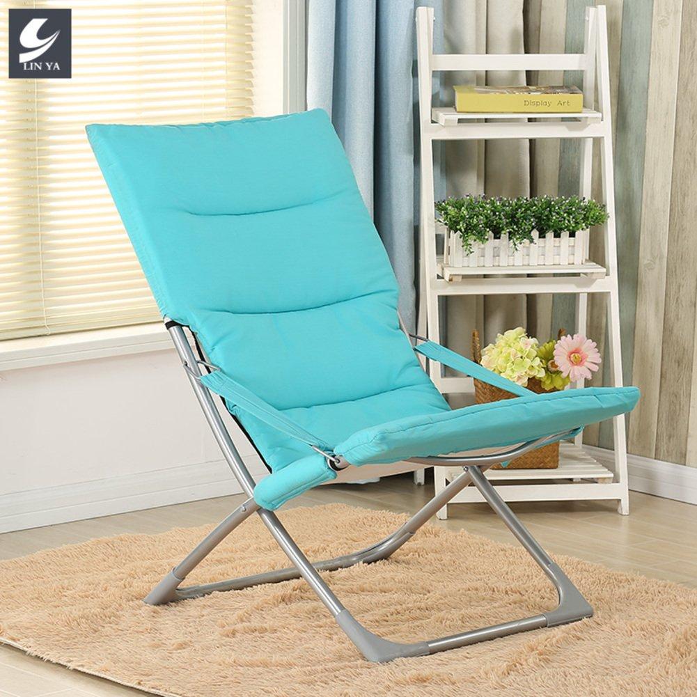 QIQI Klappstuhl,Lunch Break Stuhl Faul Nap Stuhl Tragbares Multifunktions Haushalt Lounge Bürostuhl