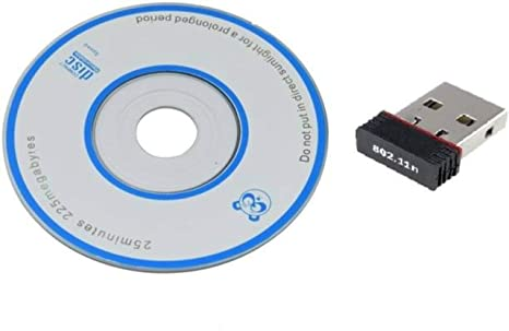 Aarsh Tech WiFi Dongle 802.11n Wi Fi 2.4GHz Wireless LAN Network Card External PC Desktop Laptop USB Adapter  Black