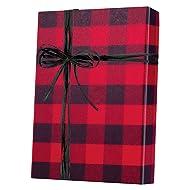 Buffalo Check Plaid Kraft Christmas Holiday Gift Wrapping Wrap Paper - 15 Foot Roll