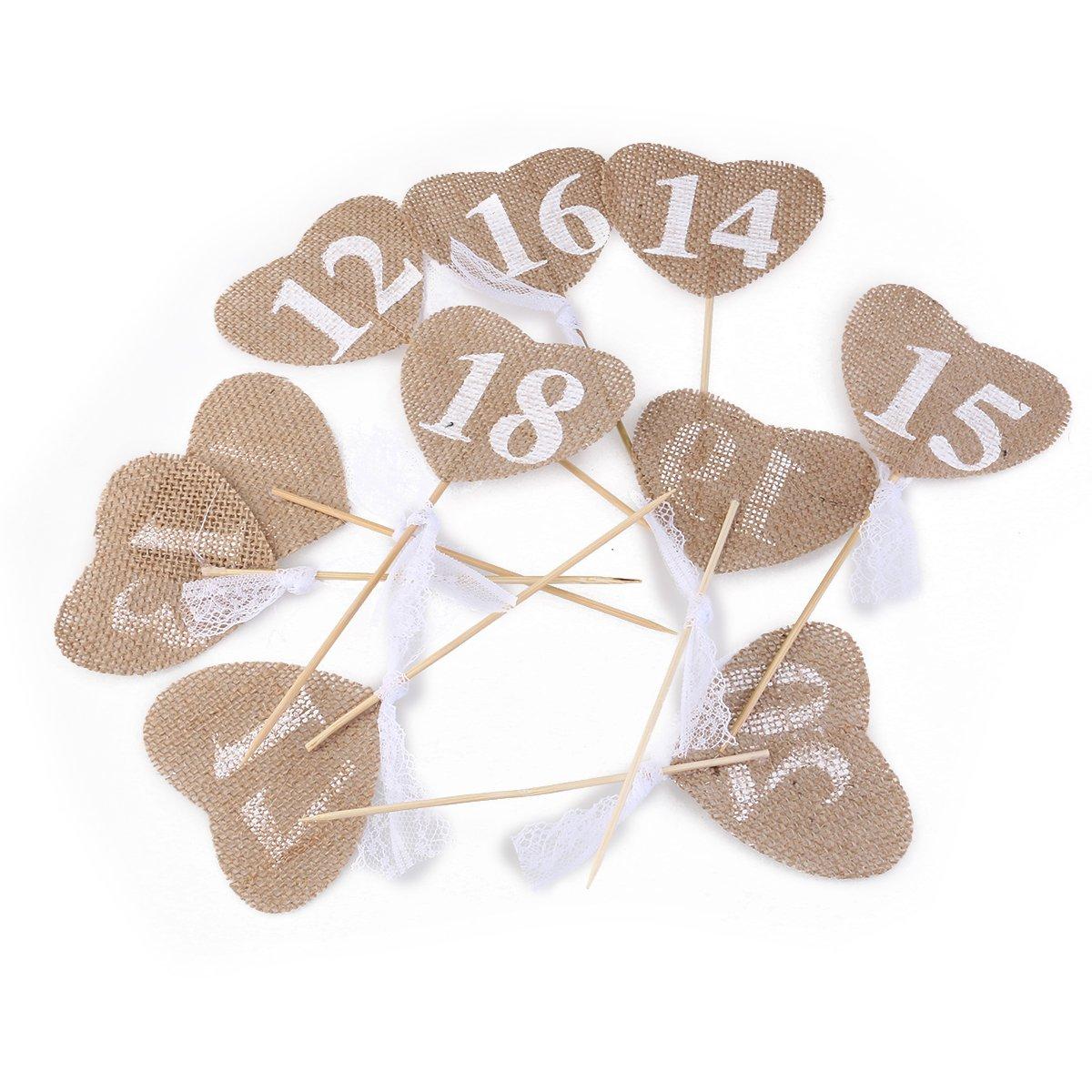 Numeración para mesas de boda de Ultnice, decoración rústica ...