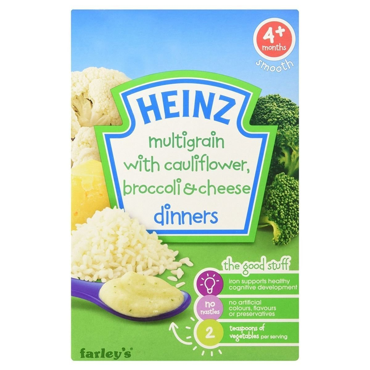 Heinz Multigrain with Cauliflower, Broccoli and Cheese, 125 g Groceries 100748032