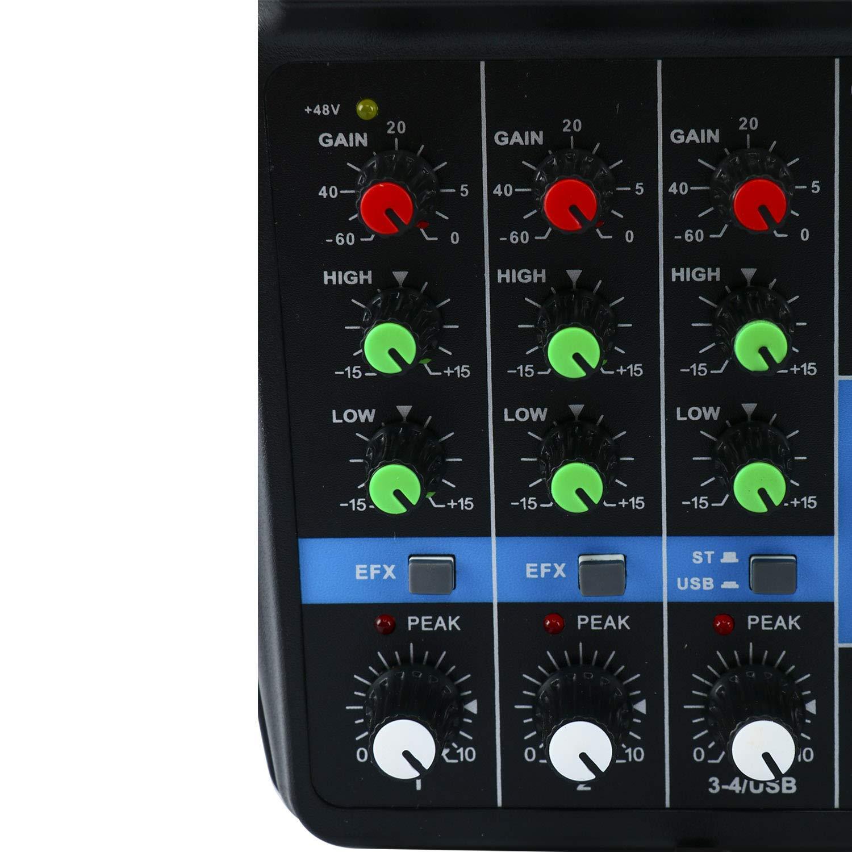ZealMax Mini mezclador de audio Tarjeta de sonido Bluetooth ...