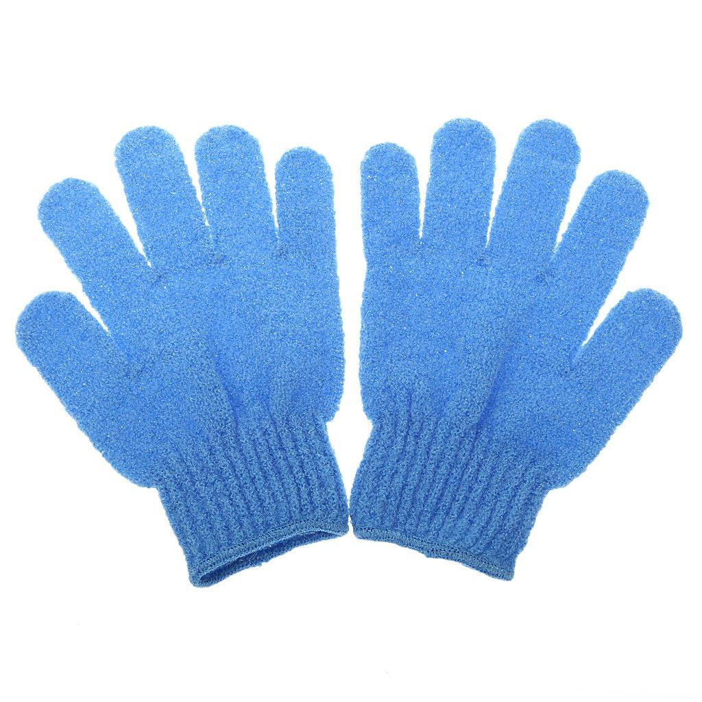 1 Paar Peeling Badhandschuh Dusche Hautpflege Wäscher Massage Sauber Handschuh Peelinghandschuh - Orange Generic