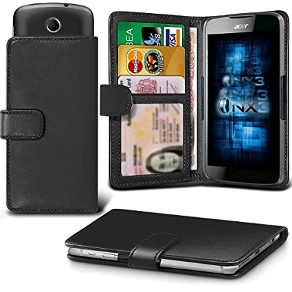 save off 967a2 a9096 ONX3 (Black) Alcatel Lume Case Universal Adjustable Spring Wallet ID Card  Holder with Camera Slide and Banknotes Slot