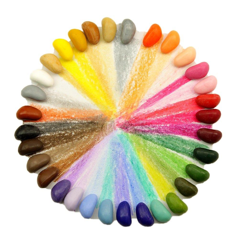 Crayon Rocks 32 Color in a Muslin Bag by Crayon Rocks (Image #2)