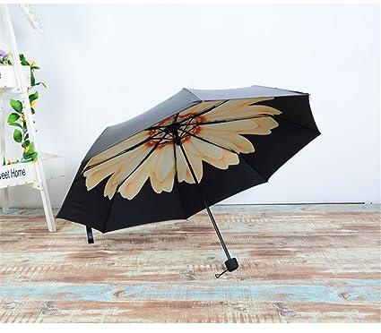 GXSCE Anti-UV, Paraguas Compactos, Paraguas plegable, luz indestructible / campana automática