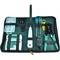 NUZAMAS Ethernet LAN RJ11 RJ45 CAT5 Cable Tester Network Analyzer Wire Crimping Crimper Stripper Tool Kit Screwdriver…