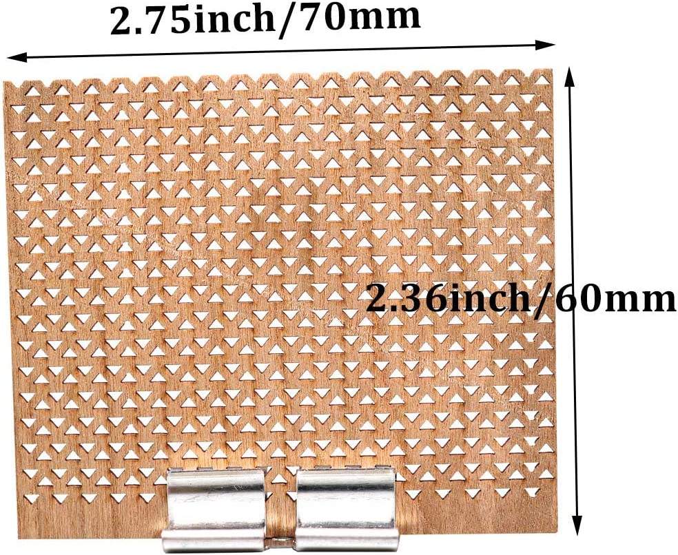 6Pcs 2.75x2.36 Inch Large Wooden Candle Wicks with Metal Bases for Candle Making Craft Natural Wood Rectangle Candle Cores for DIY Soy Wax Candles