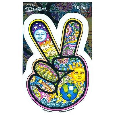 Dan Morris - Peace Fingers - Sticker / Decal: Automotive