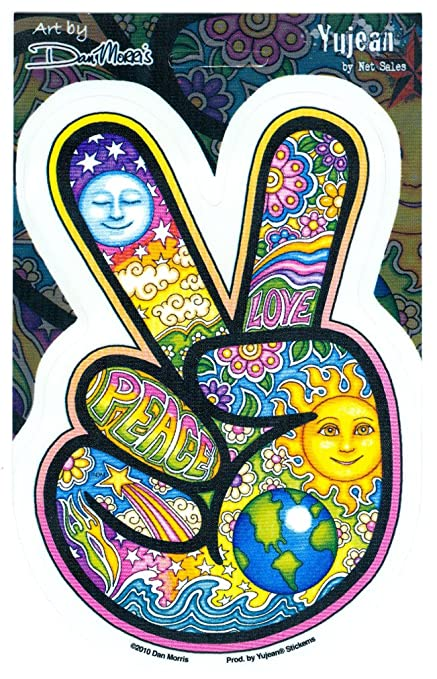 Dan morris peace fingers sticker decal