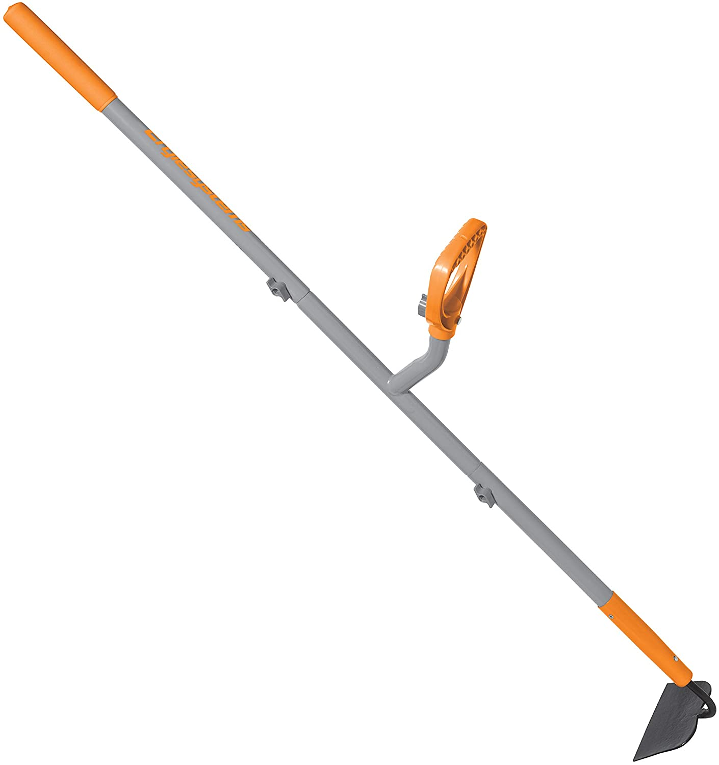 ERGIE SYSTEMS ERG-GHOE625 ErgieShovel 12-Gauge, 54 Steel Shaft, 6.25-Inch Shank Pattern Blade Garden Hoe, Gray/Orange