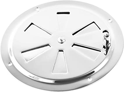 """2PCS 5/"""" Stainless Steel Boat Marine RV Round Butterfly Ventilator Vent Cover New"""