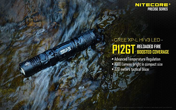 NITECORE P12GT 1000 Lumen CREE LED
