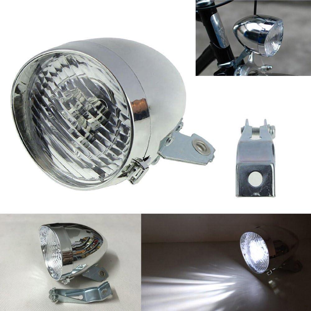 160°Visual Angle Vintage Bicycle Bike LED Light Headlight Front Retro Head Lamp