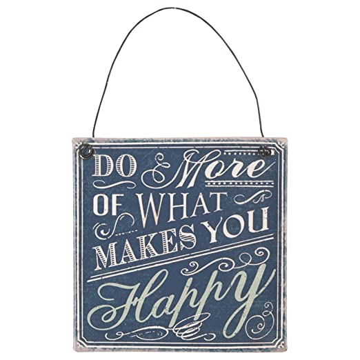 CE - Cartel de Metal Vintage con Texto Makes You Happy, 10 x ...