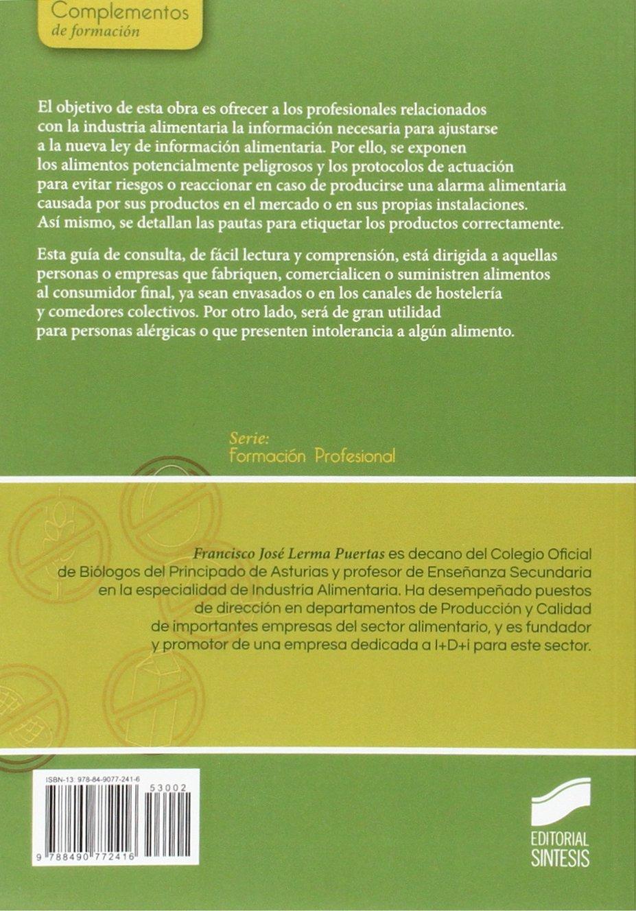 Guía de control de alergenos y etiquetado alimentario ...