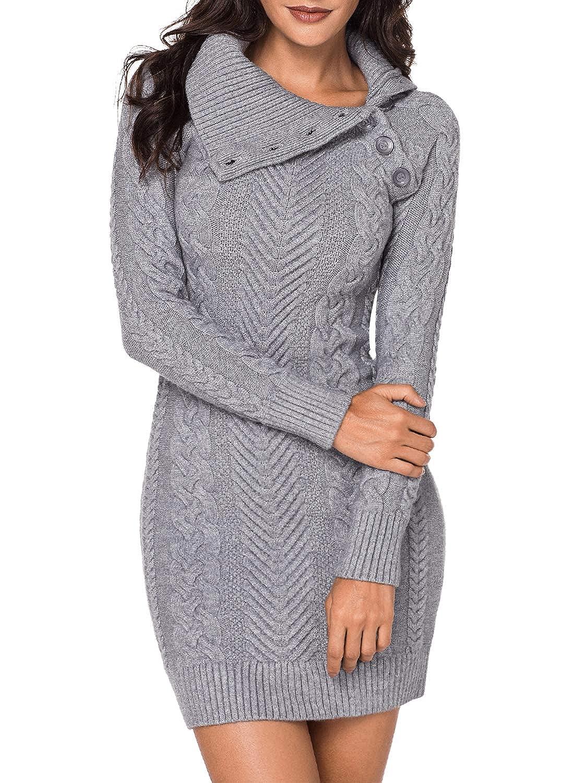 Aleumdr Vestiti Donna con Maniche Lunghe Vestiti Donna Invernali Maglione Pullover per Inverno