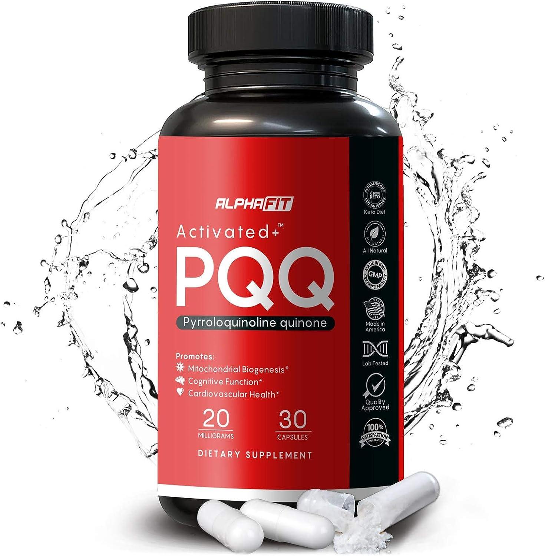 PQQ Supplement - 20mg (Pyrroloquinoline Quinone) Promotes Mitochondria ATP Coenzyme Levels, Energy Optimizer and Sleep Quality Support - Quinine Supplement - Mitochondrial Energy, Anti Aging, AlphaFit