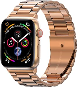 EPULY Compatible with Apple Watch Band 42mm 44mm 38mm 40mm ,Business Stainless Steel Metal Wristband for iWatch SE Series 6/5/4/3/2/1