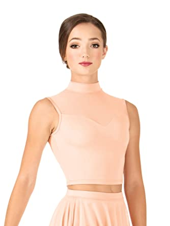 0661f650e10 Adult Sweetheart Tank Dance Crop Top NL9010 at Amazon Women's ...