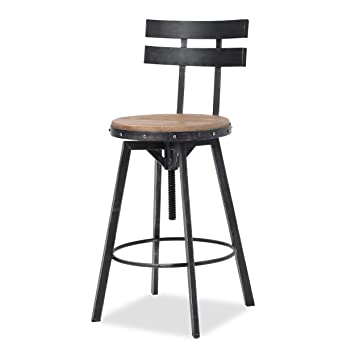 Wondrous Christopher Knight Home Jutte Firwood Smooth Back Bar Stool Black Brush Silver Pabps2019 Chair Design Images Pabps2019Com