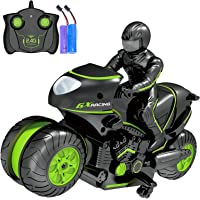 Rc Motorcycle Remote Control Motorcycles , 360° Spinning Action Rotating Drift Stunt Motorbike 2WD High Speed Rc…