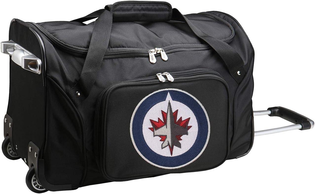 22-Inch Black Denco NHL Winnipeg Jets Duffel Bag