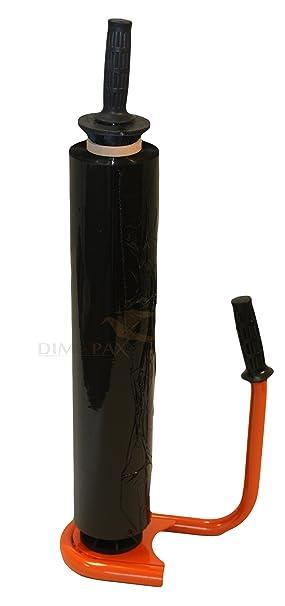 Set, un dispensador + 1 rollo Stretch pantalla negro dimapax