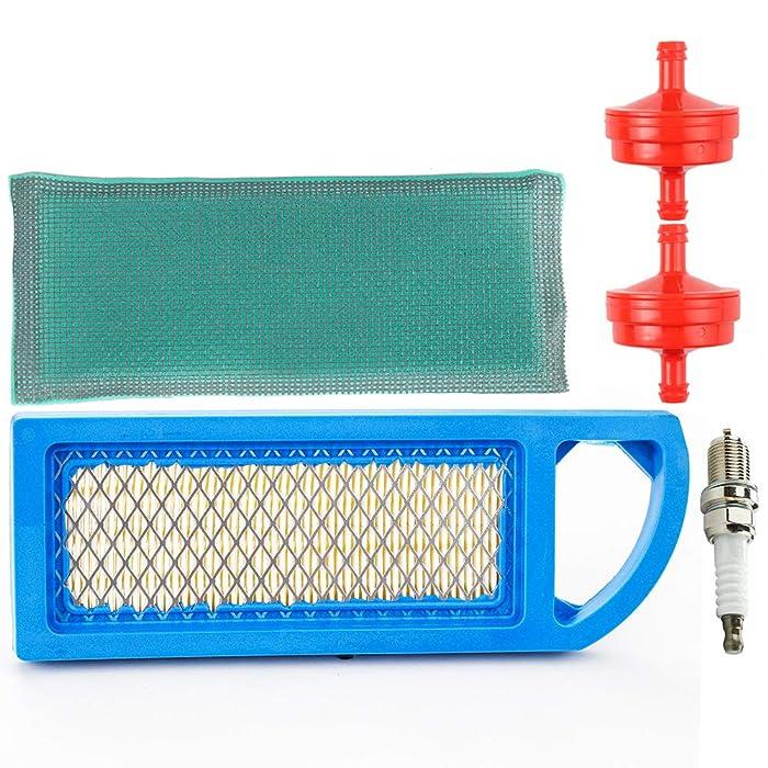 Lt1000 Air Filter Fuel Filter Spark Plug Tune Up Kit for Briggs & Stratton Craftsman Lt1000 Intek 15-18.5 HP Parts Engine Lawn Mower