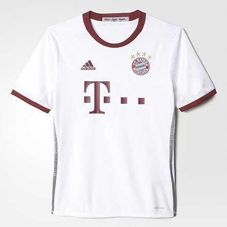 5a4c76e5 Amazon.com : adidas FC Bayern Munich UCL Youth Jersey-White (S ...