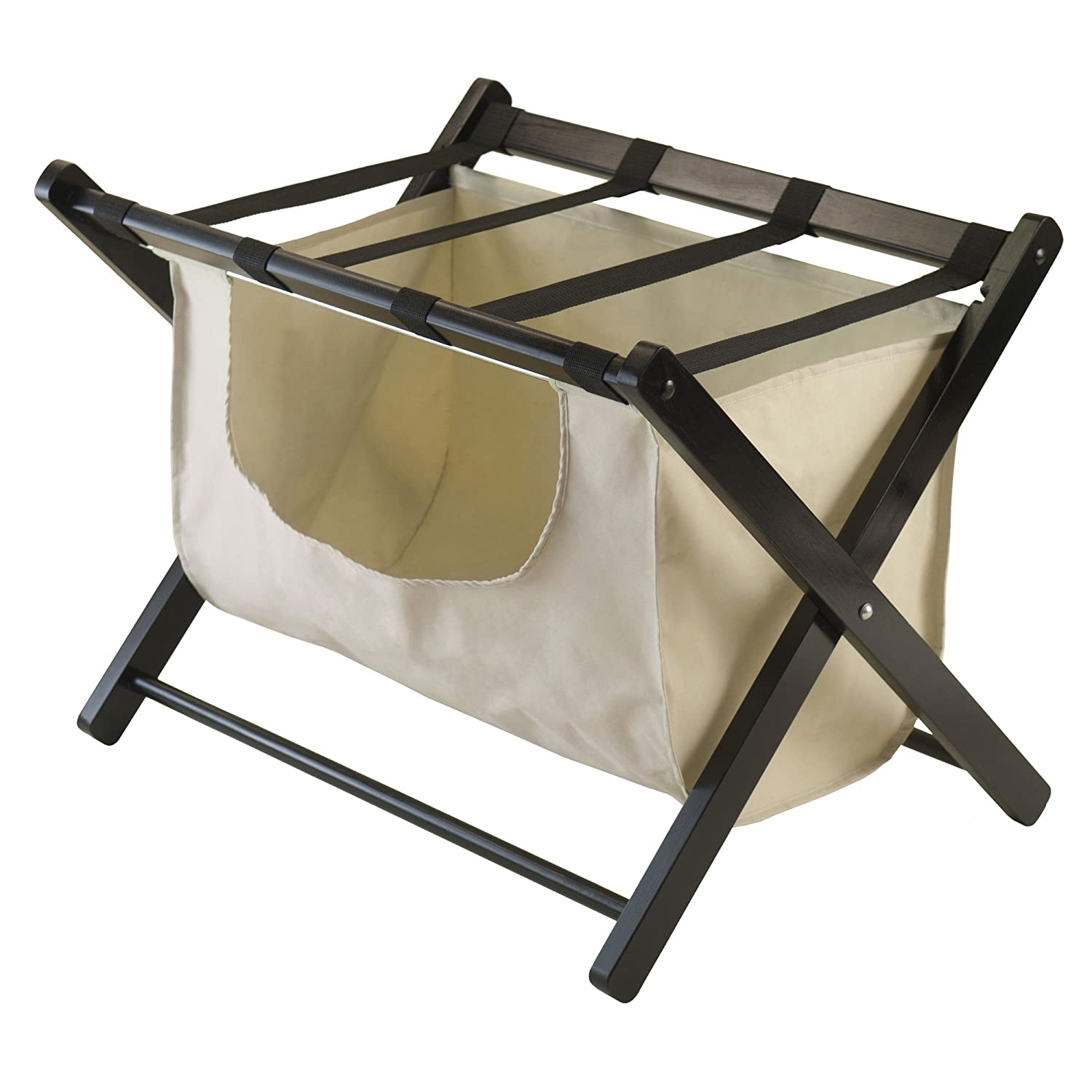 Amazon.com: Winsome Dora Luggage Rack With Removable Fabric Basket: Home U0026  Kitchen