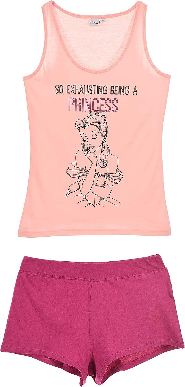 Disney Princess Ladies Perfect Shoes Short Sleeve Pjs Pyjama Set