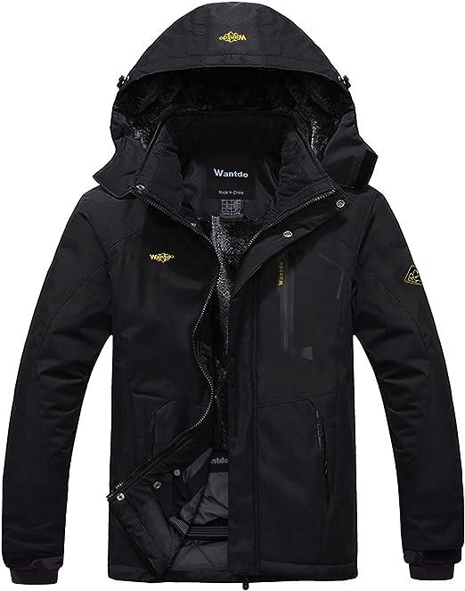 Waterproof Men's Ski Wantdo Windproof Mountain Rain Jacket 08PnwXOk