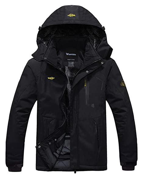 ea2f1b96b14d7e Amazon.com: Wantdo Men's Mountain Waterproof Ski Jacket Windproof Rain  Jacket: Clothing