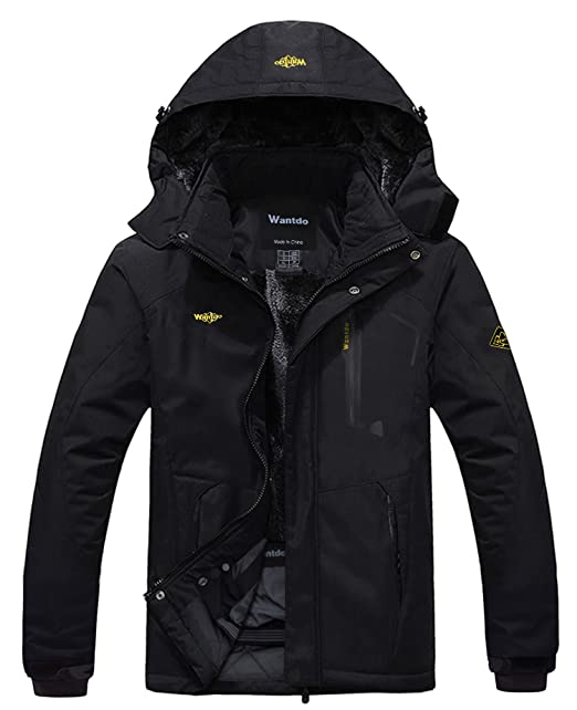 fa52a6ff91 Wantdo Men's Mountain Waterproof Ski Jacket Windproof Rain Jacket