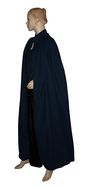 Kreativwunderwelt Umhang aus schwerer Baumwolle - 160cm - dunkelblau - ohne Kapuze
