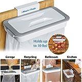 INOVERA (LABEL) Plastic Attachable Kitchen Cupboard Hanging Trash Garbage Bag Holder, White