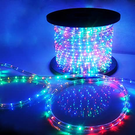 Amazon vidagoods 150 led rope light 110v party home outdoor vidagoods 150 led rope light 110v party home outdoor xmas lighting ip67 waterproof rgb aloadofball Gallery