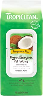 product image for TropiClean Hypoallergenic Dog Wipes, 100 Count