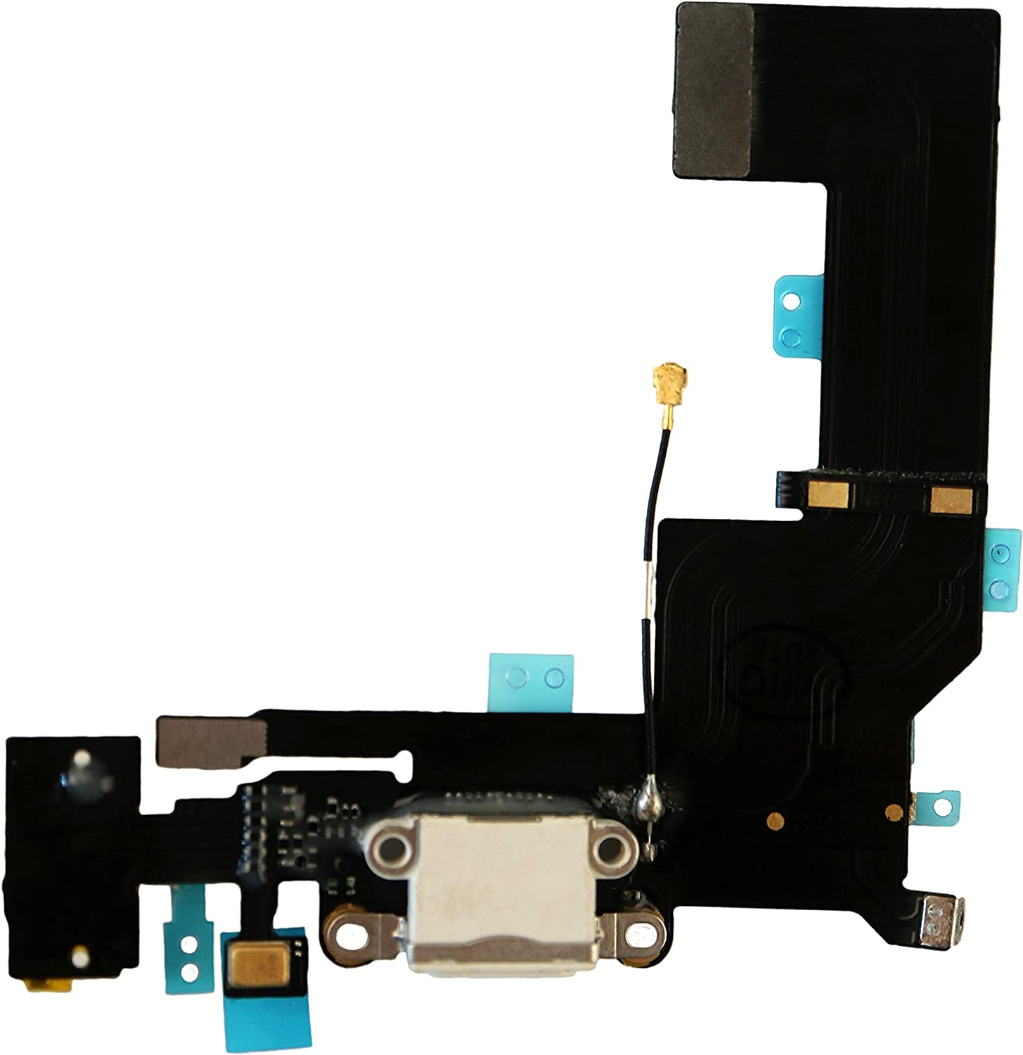 COHK USB Charging Port Dock Connector Flex Cable with Microphone and Headphone Audio Jack Replacement for iPhone SE White