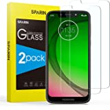 SPARIN [2 Pack Compatible with Moto G7 Play Screen Protector, [NOT Edge to edge] [Case friendly] Tempered Glass Screen Protector with [Bubble Easy Installation] [9H Hardness]