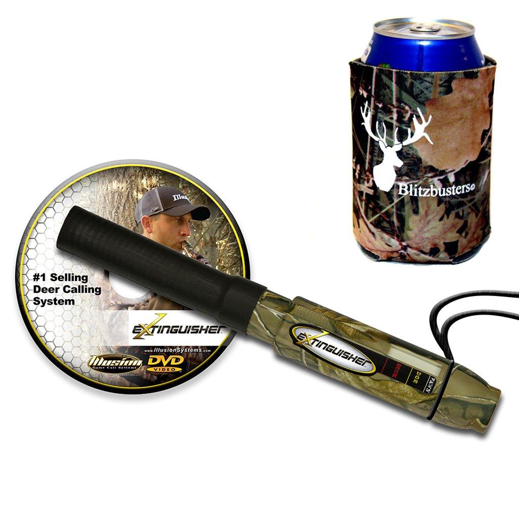 Extinguisher Deer Call Camo (Realtree) with DVD Instructional + Camo Koozie